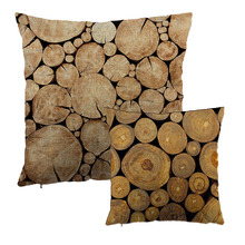 Car-covers Throw Pillow Case Tree Growth Ring 1 Side Print Cushion Cover Natural Wood Design Liene Cotton Decor Gifts Almofadas(China)