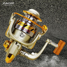 YUMOSHI Spinning Fishing Reel MC1000-7000 Series Metal Fishing Reel 5.5:1 10BB Bearing Balls Spinning Reel Carp Fishing Wheel