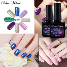 Blue Velvet 10ml Sparkle Series Gel Nail Polish Pick 1 From 12 Colors Long lasting Nail Manicure Beauty Nail Salon(China)