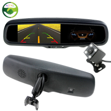 "HD 4.3"" Inch Auto Dimming Anti-Glare Interior Mirror Car Parking Monitor With Original Bracket Connect Rear View Camera"
