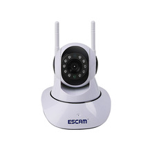 Escam G02 1MP HD 720P WIFI IP Camera Infrared Indoor Dome Pan/Tilt IR-Cut Two Way Talk Dual Antenna Surveillance Onvif Camera(China)