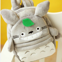 New Lovely Totoro Plush Backpacks Small School Bags for Kids Backpakcs High Quality Free Shipping NT126TotoroB