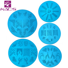 Retail Stamp A Series Round Medium Size Nail Stamping Plates Konad Stamping Nail Art Manicure Template Nail Stamp Tools