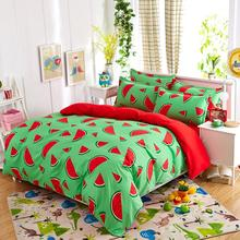 New Lemon Bedding Set Polyester Bed Sheets Duvet Cover Flat Bedspread Sets Home Textile Kids Bedroom Bed Set Juegos