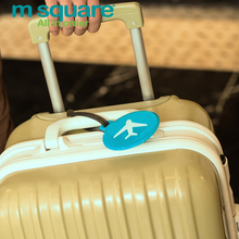 M Square Travel Luggage Label Tag Plastic Cute Luggage Tags Silicone Round Suitcase Name Address ID Label Suitcase Baggage Tags
