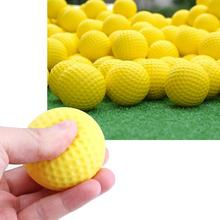 30 Pcs Indoor Outdoor Sports Training Golf Practice Golf Elastic PU Foam Yellow Balls Sport Ball High Quality Balls