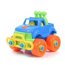 Jeep Car Toys Disassembly Combination Nut Model Building Kits Disassembling DIY Small Particles Building Blocks Assembly Toy