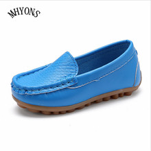 MHYONS New Fashion Kids shoes all Size 21- 30 Children PU Leather Sneakers For Baby shoes Boys/Girls Boat Shoes Slip On Soft Z6(China)