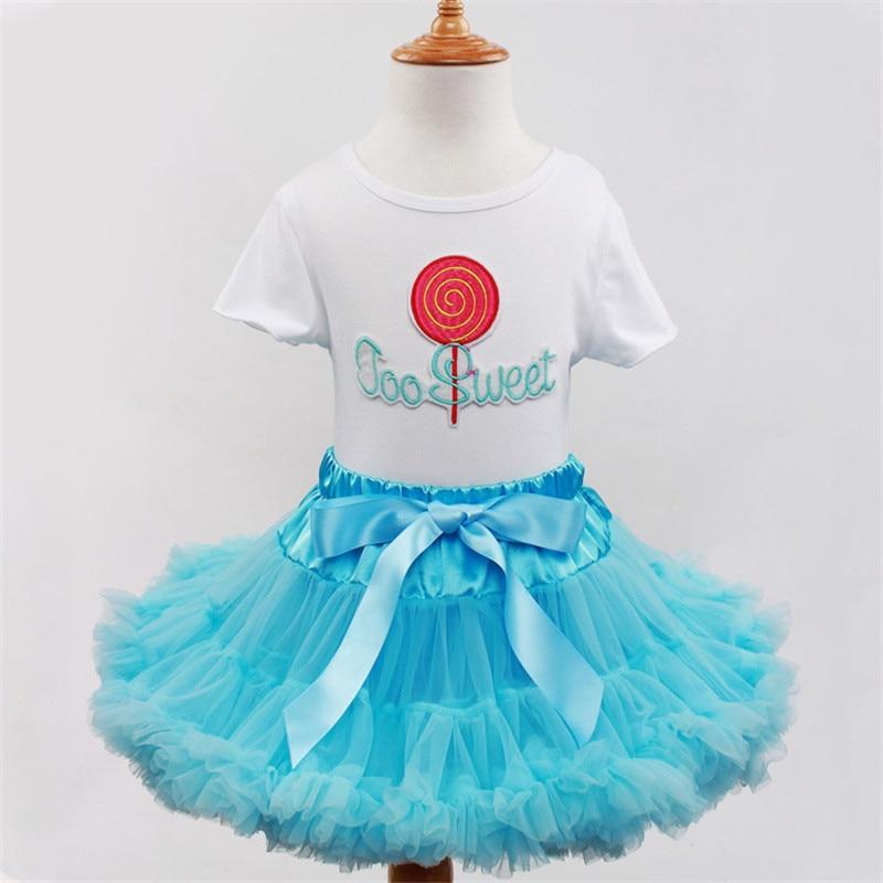 Light Blue New 2017 Baby Wedding Dress Children Girls Tutu Lollipop Sweet Cupcake Tank Top Set with Tutu Skirts Kids Pettiskirt<br><br>Aliexpress