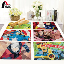 Geometric Cartoon Table Mat Bowl Dining Mats Table Napkin For Wedding Set Kitchen Decoration Table Pads Home Accessories