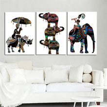 ZZ2189 modern abstract canvas art african elephant portrait canvas pictures oil art painting for livingroom bedroom decoration(China)