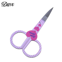 DWX 1 pcs/lot Stainless Steel Manicure Scissors For Eyebrow Pattern Eyelash Makeup Tools(China)