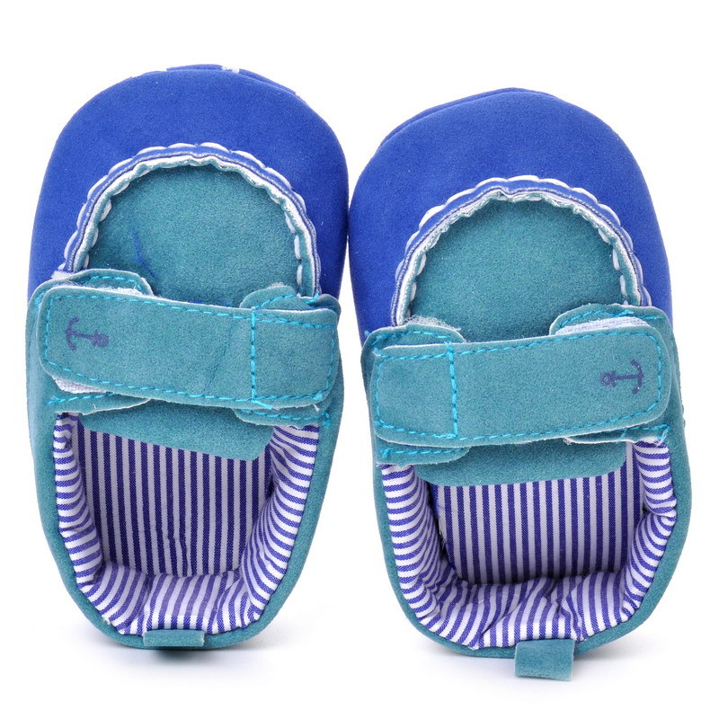 17 Fashion Newborn Baby Girl Boy Shoes Soft Sole Infantil Toddler Baby Boy Sneakers Blue Baby Mocassins Crib Peas Flock Shoes 20