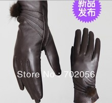 Vintage Women fur Genuine Goat leather gloves skin gloves LEATHER GLOVES 12pairs/lot #3116