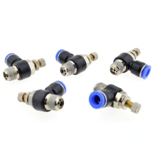 10PCS/LOT SL6-M5 Pneumatic quick L type throttle valve pneumatic joint Pneumatic fittings(China)