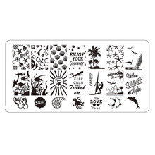 Buy Summer patterns Stamping Tool Nail Art DIY Nail Stamp Stamping Image Plate Print Nail Art Template P35 May31 for $1.20 in AliExpress store