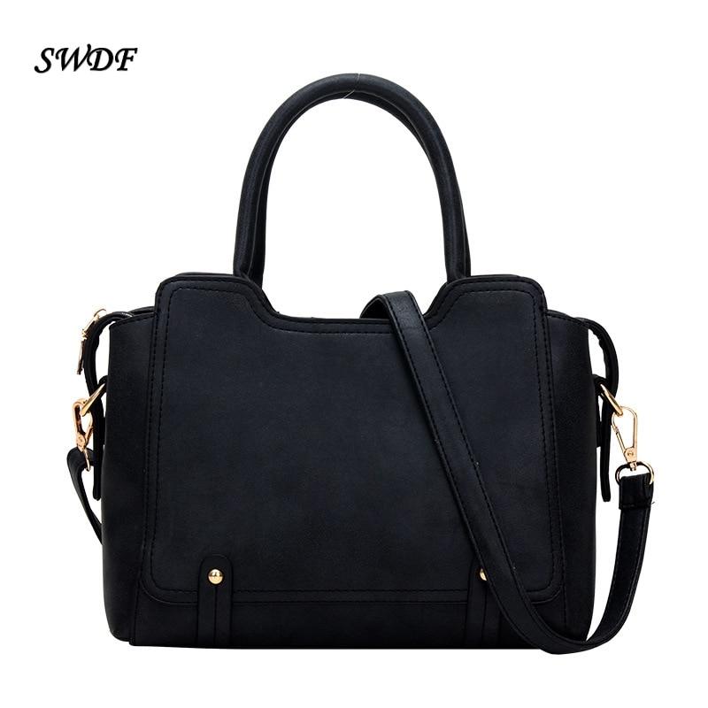 SWDF  Hot Sale 2016 Fashion Designer Brand Women PU Handbags High Quality Ladies Shoulder Bags Large Capacity Simple Wild Female<br><br>Aliexpress