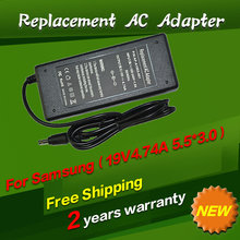 19V 4.74A 5.5*3.0mm AC Charger Adapter For notebook samsung R428 R410 R65 R520 R522 R530 R580 R560 R518 R410 R429 R439 R453
