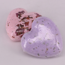 Hot Sale  Heart Bubble Bath Ball Handmade Sea Salt SPA Bath Explosive Salt Dried Flowers Series of Effervescent Bath Salt Ball