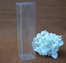 Qin.01.12/6*6*20cm Plastic PVC Packaging Boxes Clear Transparent Gift Candy Cake Macaron Packing Box