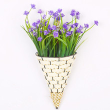 WHISM Ice Cream-Type Iron Flower Pergola Basket Storage Woven Basket Hanging Flora Pot Vine Wall Baskets Garden Home Decoration(China)