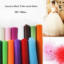 3m America Hard Tulle mesh fabric 160cm wide for wedding dress cloth Sewing DIY doll tutu skirt Yarn cloth fabric material