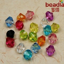High Quality 4MM/6MM Approx 200-500Pcs Mixed Color Rondelle Round Spacer Beads Acrylic Beads For DIY Bracelet bangle Making