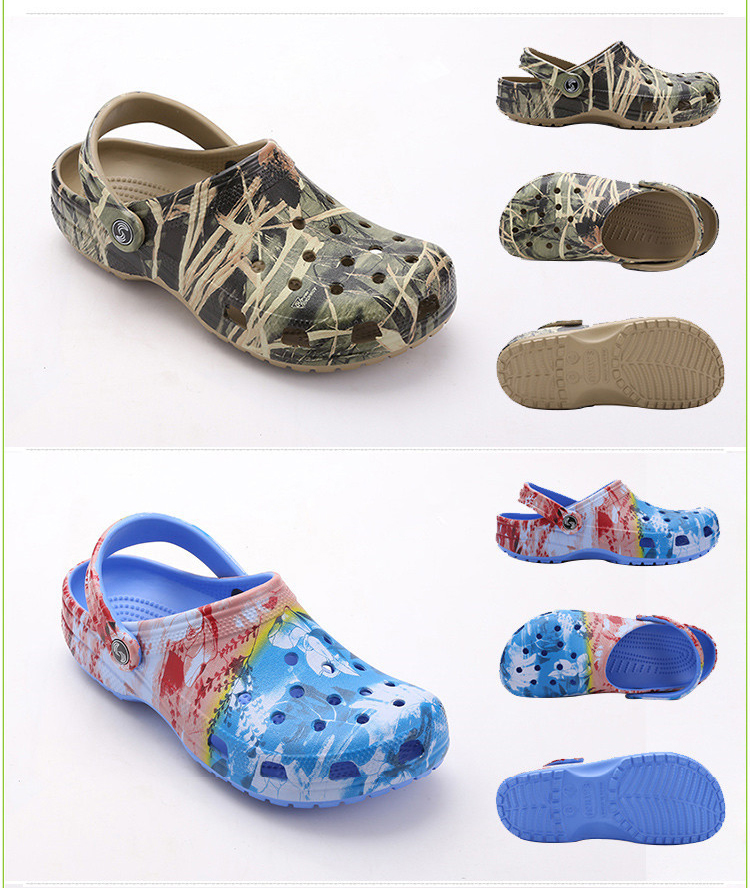 Summer Men's Garden Clogs Sandals EVA Material Fashion Mule Clog For Men Beach Slippers Waterproof Shoes Man  (5)
