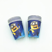 10 Minions theme paper cups kids favor birthday paper glasses boys favor birthday party decoration minions theme party supplies