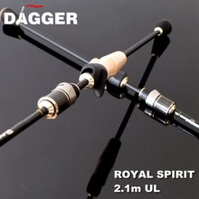 DAGGER Royal Spirit 703 UL Fast Action Japan Carbon Fiber 2.1m Ultra light 1-6g Lure weight China Stream Fishing Rod