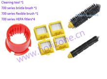 Bristle and Flexible Brush & HEPA Filter tools for iRobot Roomba 700 760 770 780 790 Vacuum Cleaner Accessories(China)