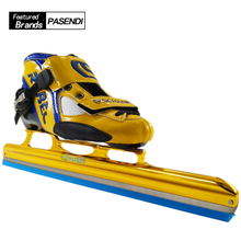 Professional Roller Skates Shoes Adults ice hockey skates Kids ice blade Roller Inline Speed Skating Shoes Black Yellow Boots(China)