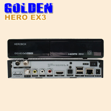 1PC herobox ex3 HD dvb-s2 t2/c tuner  hero box ex3 HD satellite decoder  BCM7358 752MHZ MIPS Processor DVB S2 T2