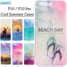Cool Summer Beach Sea Cases Huawei P10 P10 lite Funda Coque Silicon Protective Soft Back Case Cover for Huawei P10 P10 lite