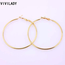 VIVILADY Fashion 12pairs/lot Nickel Gold Color Hoop Earrings Loop Earrings Celebrity Brand African Jewelry Women Accessory Gift