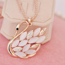 2015 Direct Selling Real Collares Mujer Collier Necklaces Swan Fashion Accesories Long Necklace Pendant Fine Jewelry Women(China)