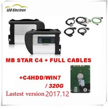 Adeonor MB Star C4 SD connect HDD star c4 latest 2017.12 software diagnostic tool star diagnosis Compact C4 for Mercedez Benz(China)