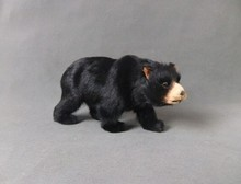 new cute simulation black bear toy handicraft lovely bear doll gift about 24x12cm(China)