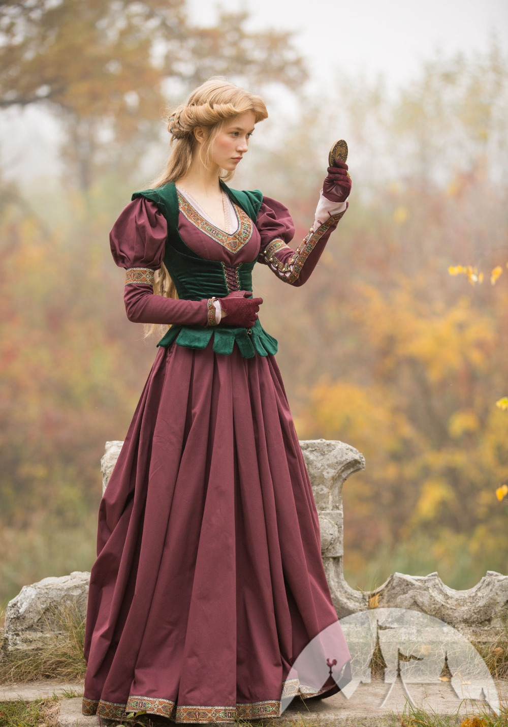 Lady Of The Lake Medieval Woman Costume New Adult Historical Renaissance