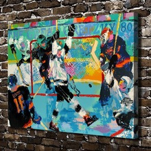 A1884 LeRoy Neiman Abstract mobilization hockey,HD Canvas Print Home decoration Living Room bedroom  Wall  pictures Art painting