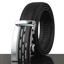 Buy Men Belt Automatic buckle Leather width 3.5CM Length 110/120 / 130CM Designer high Fashion brand Waist strap Hombre male for $9.50 in AliExpress store