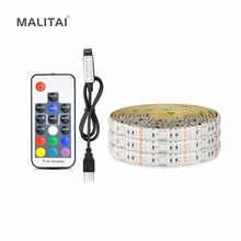 USB LED Strip RGB 5050 Waterproof 5V Christmas light String lamp Tape For TV LED Backlight 1m 2m 3m 4m 5m with Controller Kit(China)