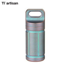 Tiartisan Pill Storage Container Waterproof Box Ultralight Portable Titanium Pill Case Container Battery Storage Case(China)