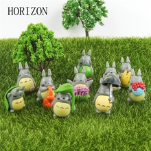 10Pcs/lot Cute Cartoon figure gifts doll resin miniature figurines Toys PVC plactic japanese cute lovely anime
