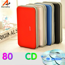 A Ausuky Car Storage CD Bag Portable 80 Disc Capacity DVD CD Case for Car Media Storage CD Bag -20(China)