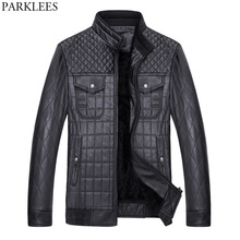Buy Winter Pilot Leather Jacket Men 2017 Quilted Jacket Thicker Warm Velvet Mens Jackets Coats Casual Slim Fit PU Leather Jackets for $33.10 in AliExpress store