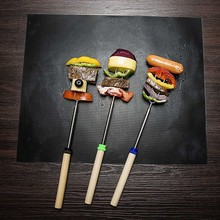 1pcs/2pcs/3pcs/5pcs Black Reusable No Stick BBQ Grill Roast Mat Sheet Portable Easy Clean Picnic Cooking Barbecue Tool