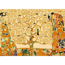 Tree Street Painting Picture By Number DIY Handpainted Wall Arcylic Paint Landscape Gift 40X50 cm Coloring By Number Atrs m58(China)