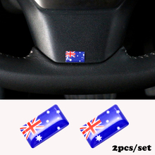 2pcs/set Steering wheel 3D Epoxy Car Styling fit for Peugeot BMW MINI Ford focus Car Sticker Australia National Emblem