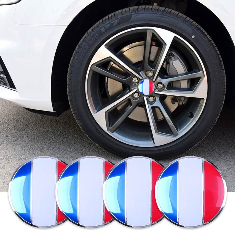 4pcs 56.5mm Car Steering Tire Wheel Center Car Sticker Hub Cap Emblem Badge Decals Symbol For AMG BMW Audi Mercedes Porsche(China (Mainland))